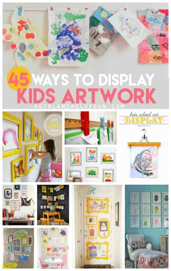 Display Kids Art Idea