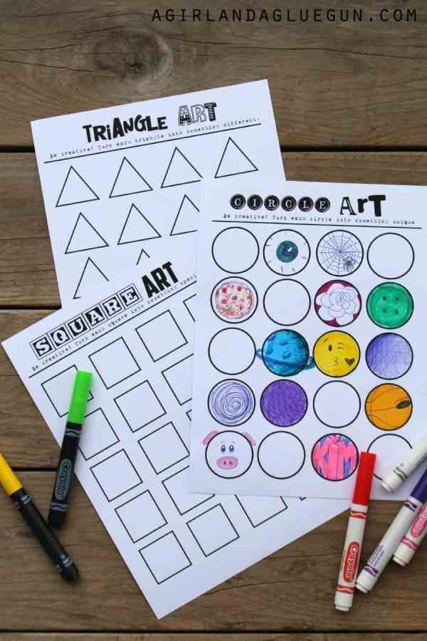 Free Printable Art Activities for Kids