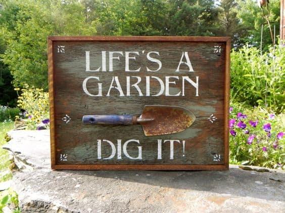 super funny garden signs
