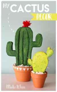 DIY Cactus Decor - A girl and a glue gun