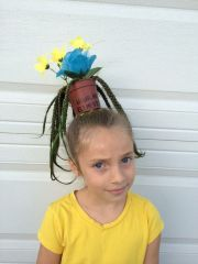 crazy hair day - girl