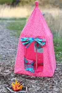 Barbie Tent Pattern - A girl and a glue gun
