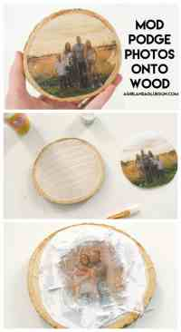 How to transfer photos on wood -4 different ways - A girl ...