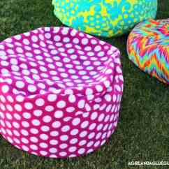 How To Sew Bean Bag Chair Teal Chevron Saucer Make A Girl And Glue Gun Living With Punks Has Great Tutorial Here