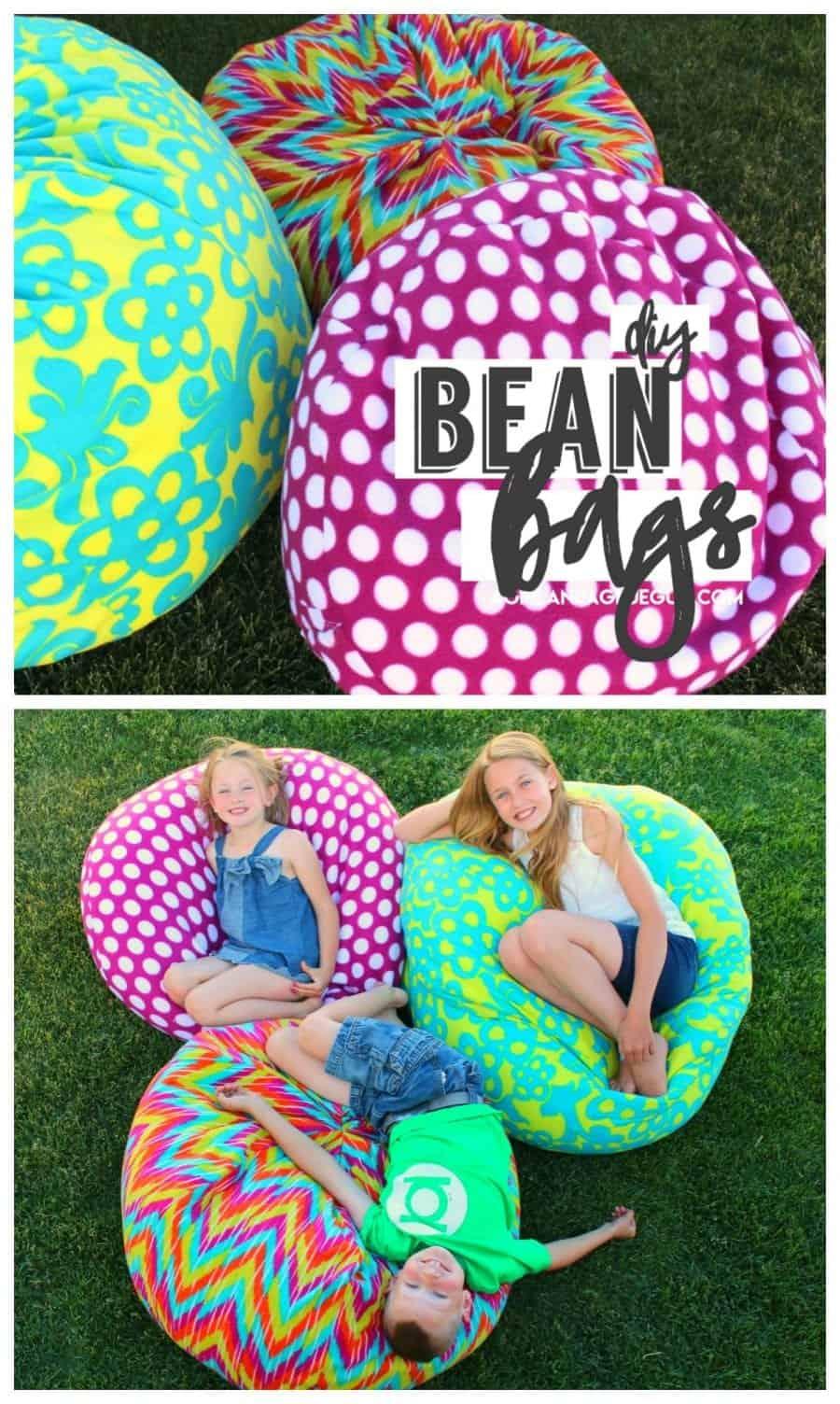 How to make a bean bag chair  A girl and a glue gun
