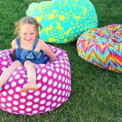 How To Sew Bean Bag Chair Wayfair Parsons Make A Girl And Glue Gun Not Hold It S Form Which Is Totally Okay For Me But If You Want More Might Use Stiffer Home Decor Fabric Stuff All