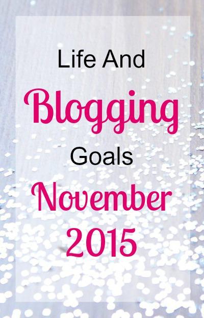 blogging goals november