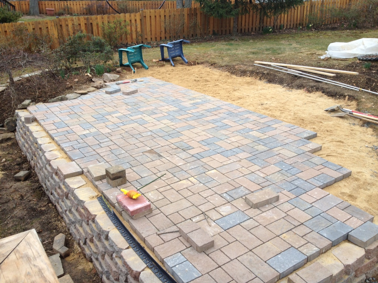 Exterior: Fascinating Pavers Home Depot For Garden Or