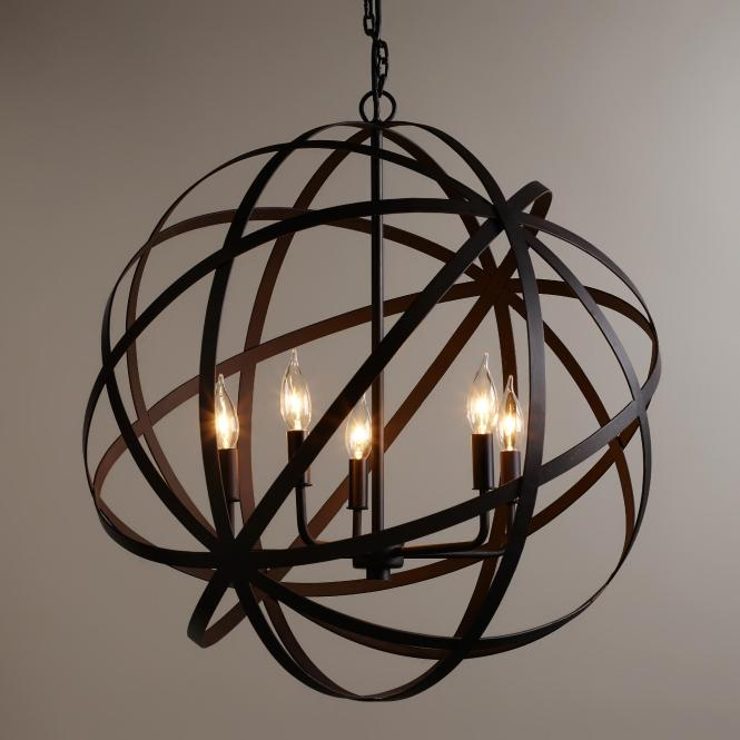 Alluring Sphere Chandelier Metal Orb With Interesting Price For Your Home Lighting
