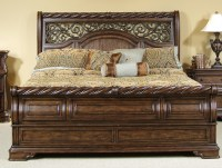 Bedroom: Gorgeous King Sleigh Bed With Beautiful Colors ...