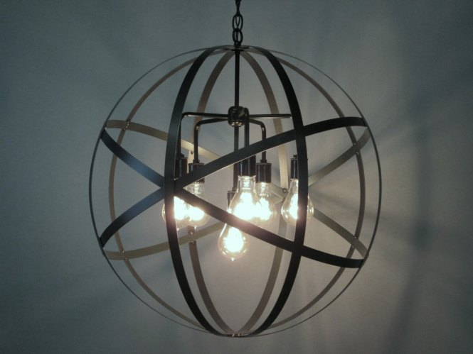 Elegant Sphere Chandelier Metal Orb With Interesting Price For Your Home Lighting