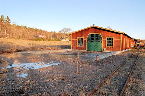 Grunden till museihallen klar. Foto: Patrik Engberg