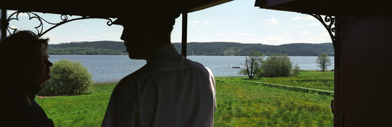 Utsikt över sjön Anten från plattform. Foto: René Pabst