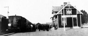 Mjörnsjö station. Foto: Stig Nybergs samlingar / Sveriges Järnvägsmuseum