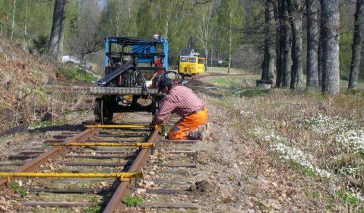 Banarbete på linjen. Foto: Alexander Lagerberg