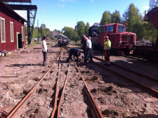 Växelarbete i Anten, växeln stoppas. Foto: Patrik Engberg