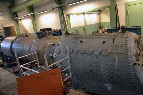 Pannan på VGJ 31 i verkstaden. Foto: Yngve CG