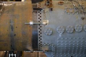 Arbetet med pannan till VGJ31 fortsätter. Foto: Yngve CG