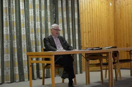 Årsmöte 2015, Karl-Axel Björkdahl håller föredrag. Foto: Yngve CG