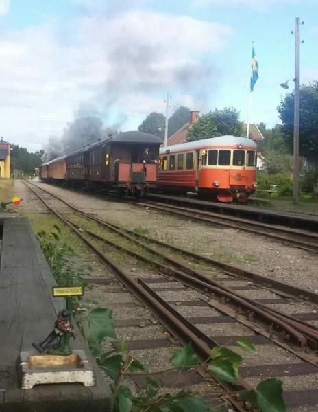 Sista tåget avgår. Foto: Mats Andersson