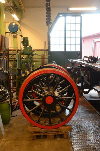 Färdiga hjul i väntan på montering. Foto: Marcus Jacobson