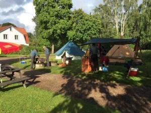 Vänersborgs Scoutkår var också på plats. Foto: Patrik Engberg