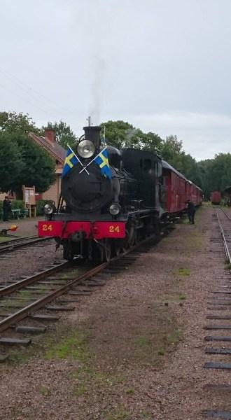 Säsongens sista tåg står klart. Foto: Christian Merking