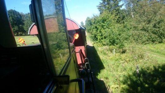 Vagn 28 dras tillbaka till Anten. Foto: Magnus Liberger