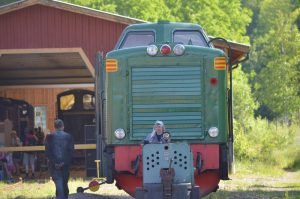 Dubbla diesellok i Anten. Foto: Yngve Emanuelsson