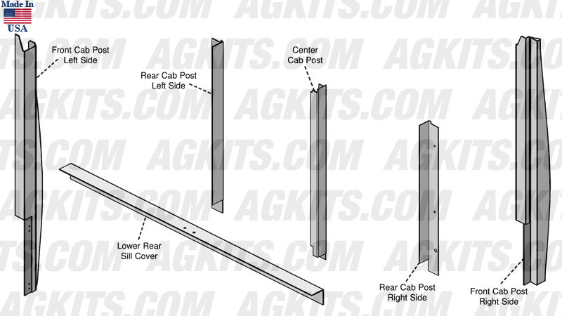 Case-IH Cab Corner Post Kit