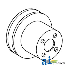 White, Oliver, Minneapolis Moline Water Pump Pulley 102221A