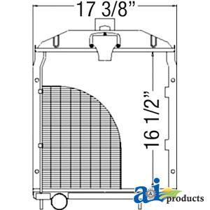 Case-IH Radiator 58124DBX