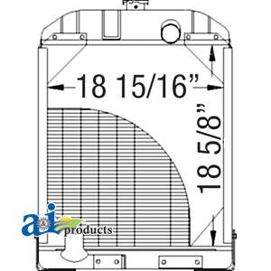 Allis Chalmers Radiator 70227166