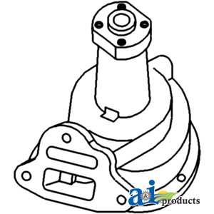 Case International Water Pump 2540AA, A48361