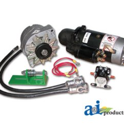 John Deere Alternator Wiring Diagram A Single Pole Light Switch 24v To 12v Starter Conversion Kit