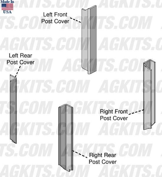 John Deere Cab Corner Post Kit