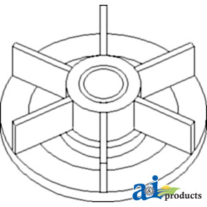 John Deerel Water Pump Impeller T30897