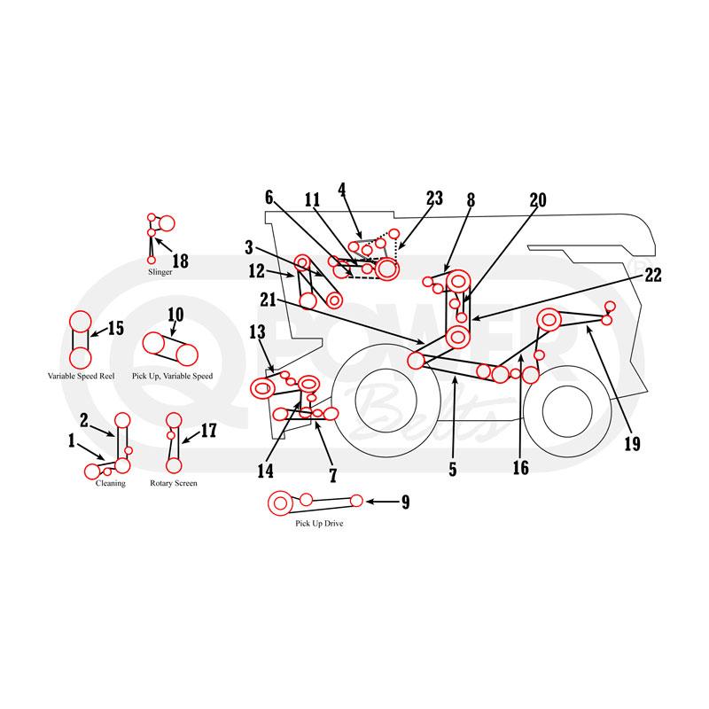 Massey Ferguson 410, 510 Combine Belts