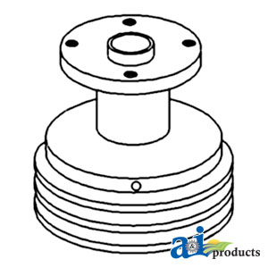 White, Oliver, Minneapolis Moline Water Pump Pulley 168766A