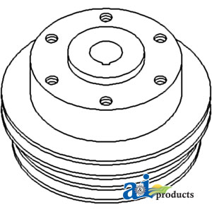 White, Oliver, Minneapolis Moline Water Pump Pulley 747751M1
