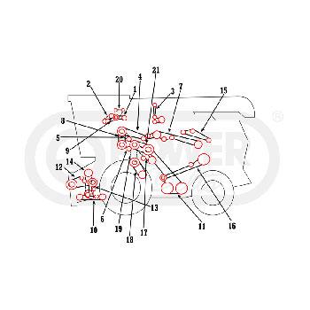 Massey Ferguson 540 Combine Belts