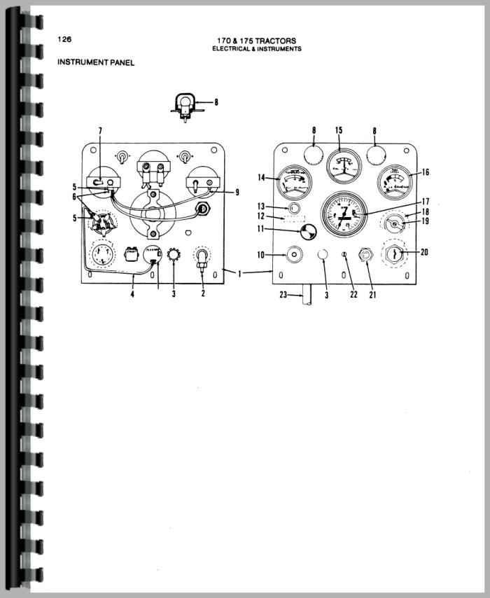 Allis Chalmers 175 Tractor Parts Manual