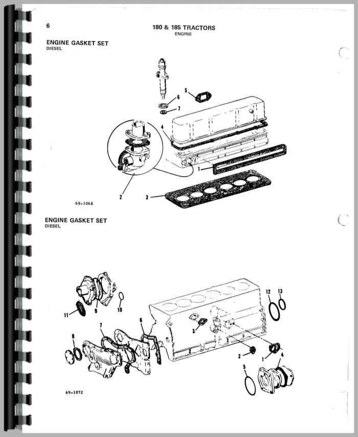 Allis Chalmers 180 Tractor Parts Manual