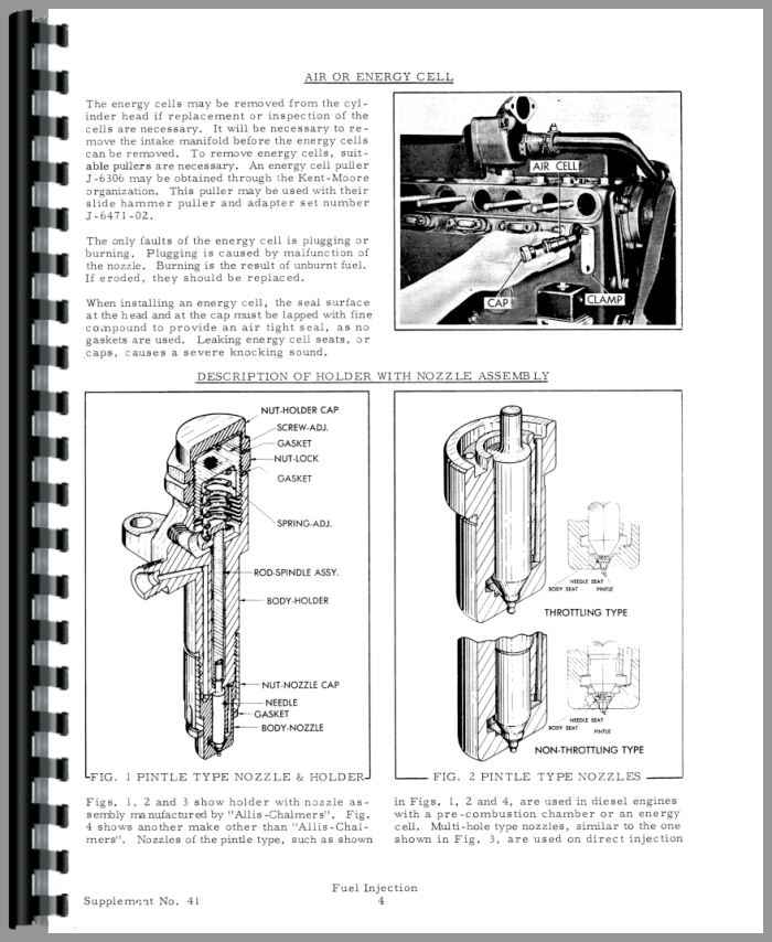 Allis Chalmers 190XT Injection Pump Service Manual