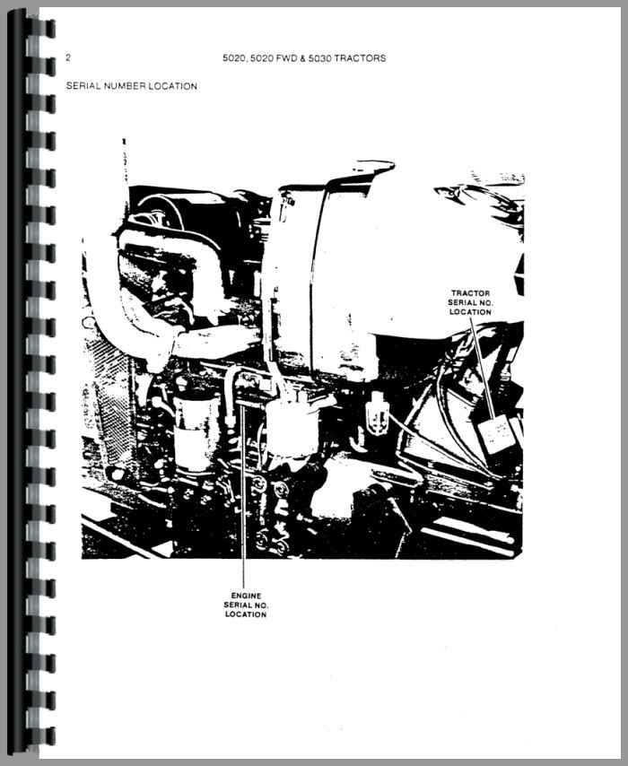 Allis Chalmers 5020 Tractor Parts Manual