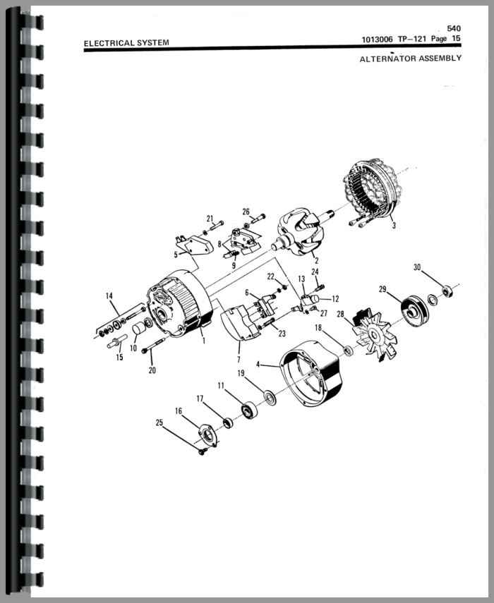 Allis Chalmers 540 Articulated Loader Parts Manual