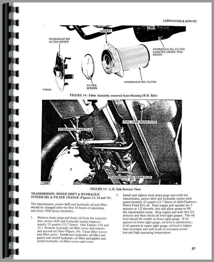 Allis Chalmers 7000 Tractor Operators Manual