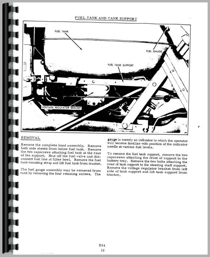 Allis Chalmers D14 Tractor Service Manual