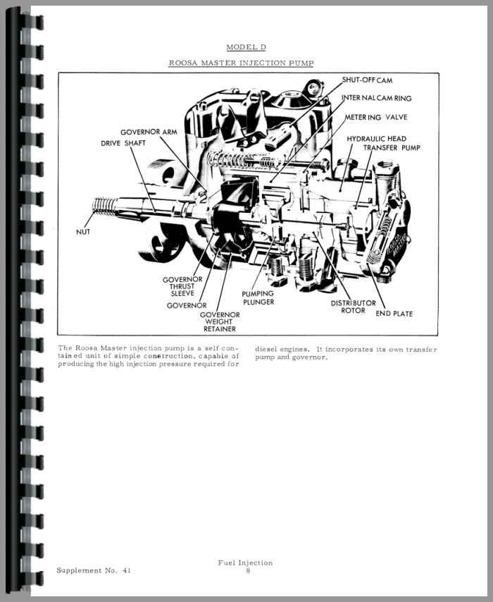 Allis Chalmers D17 Injection Pump Service Manual