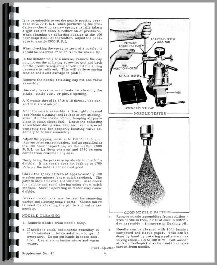 Allis Chalmers D19 Injection Pump Service Manual